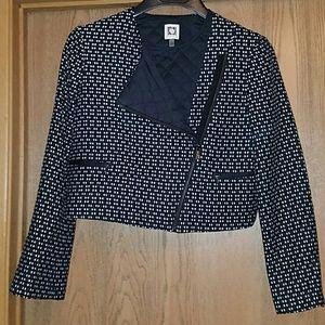 Anne Klein black and white blazer